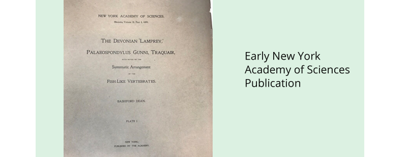 Early New York Academy of Sciences Publication