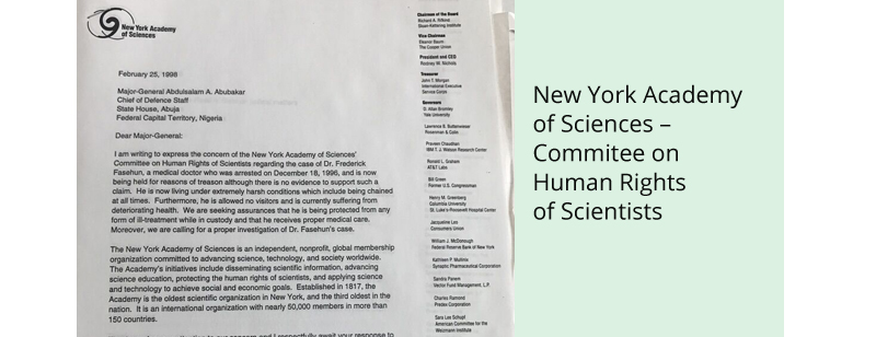 New York Academy of Sciences – Commitee on Human Rights of Scientists