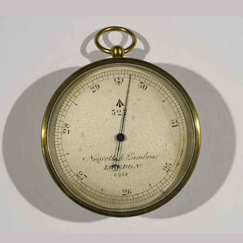 Aneroid used by Albert Markham on the Arctic expedition of 1875