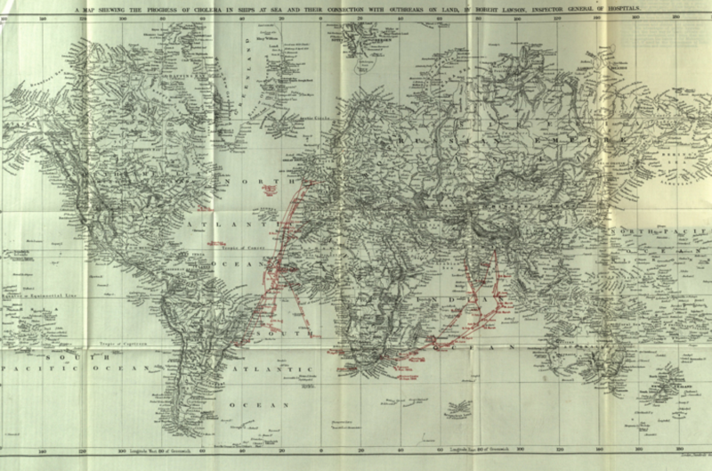 Manifestations of Cholera at Sea Map