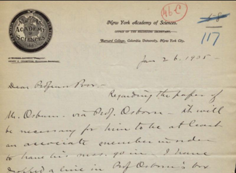 Correspondence between J.F. kemp and Professor Poor, January 26, 1905