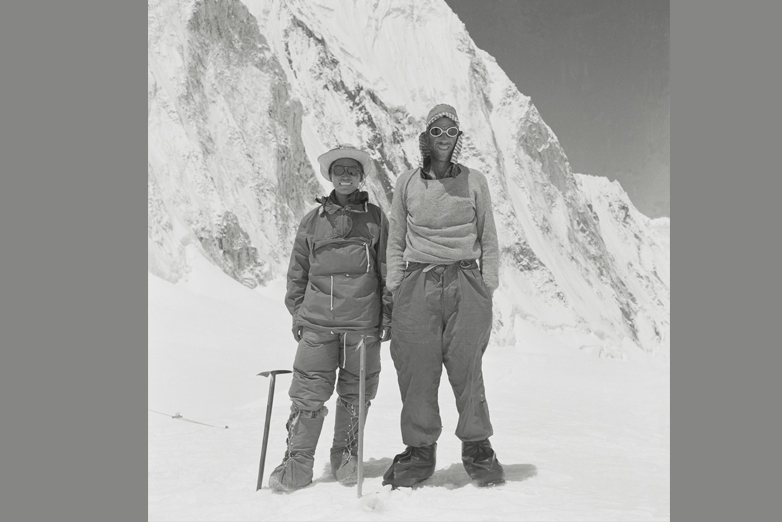 Full length portrait ofHillary and Tensing. Nepal. March 1953. Photographer: Alfred Gregory