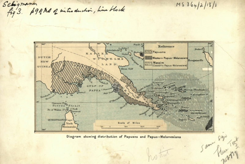 Map from The Melansians of New Guinea