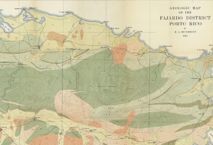 Fajardo District Map, Puerto Rico Survey